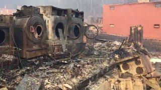 Fires still burn as rain falls in Gatlinburg