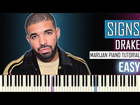 How To Play: Drake - Signs | Piano Tutorial EASY
