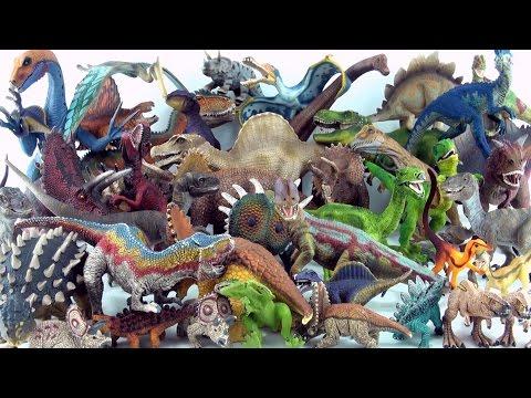 Entire Schleich Dinosaur toy collection - Tyrannosaurus Spinosaurus Triceratops Stegosaurus