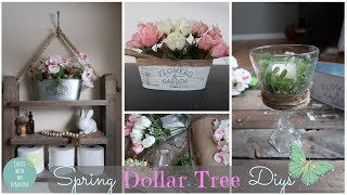 EASY DOLLAR TREE DIY SPRING DECOR | FARMHOUSE RUSTIC | BURLAP CRAFTS | DIY MAKE IT YOUR OWN MONDAY