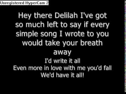 Hey there delila lyrics