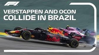 Verstappen And Ocon Collide | 2018 Brazilian Grand Prix