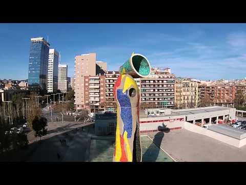 Dona i Ocell - Mujer y Pájaro - Joan Miro   Barcelona -  DJI Phantom 2 Vision +