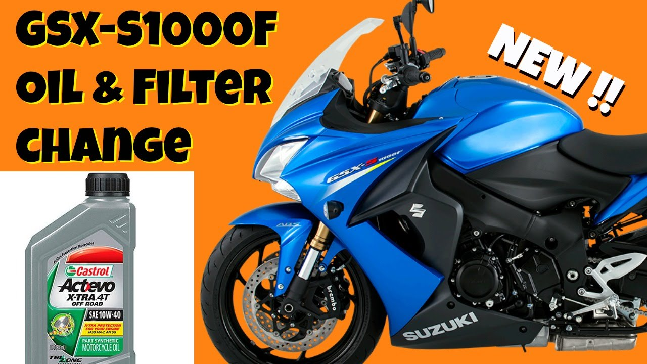 How to change oil & filter on Suzuki GSX-S1000F