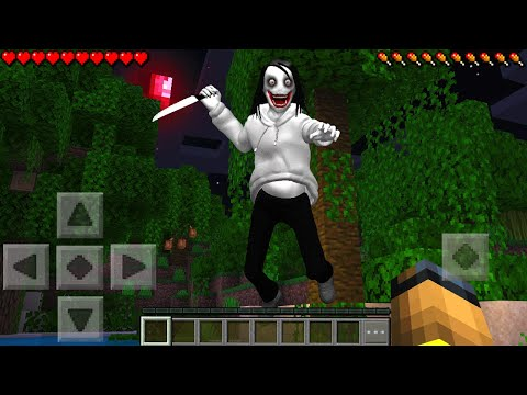 JEFF THE KILLER ATTACKED ME In Minecraft Pocket Edition...