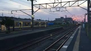 JR東日本255系 特急しおさい 松岸駅通過 JR East Series 255 passes through Matsugishi station
