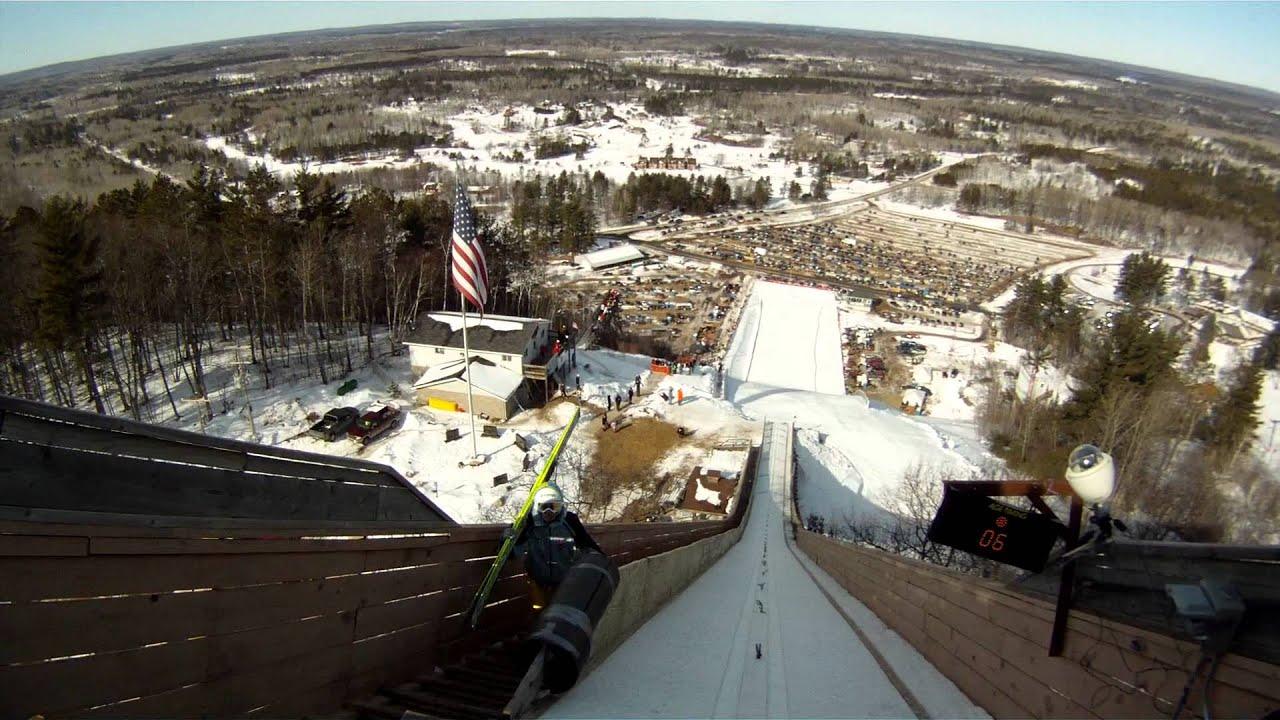 continental cup ski jumping 2012 iron mountain mi gopro
