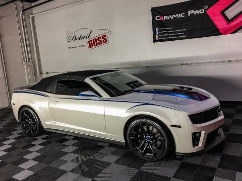 Detail Boss Avery Pearl White Vinyl Wrap Zl1 Camaro