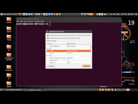 copy paste to and from the terminal  Ubuntu 12.04