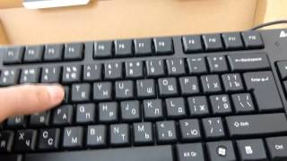 Cheap full size USB keyboard A4Tech KR 750.