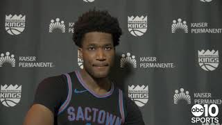 Damian Jones on his defensive impact for the Kings in Sacramento's 128-125 win over the T'Wolves
