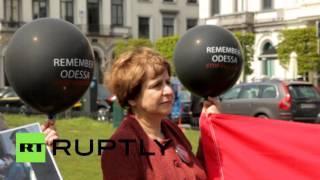 Память погибших в одесском Доме профсоюзов почтили в Брюсселе