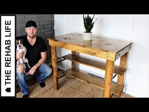 The Industrial Kitchen Island – Easy DIY Project