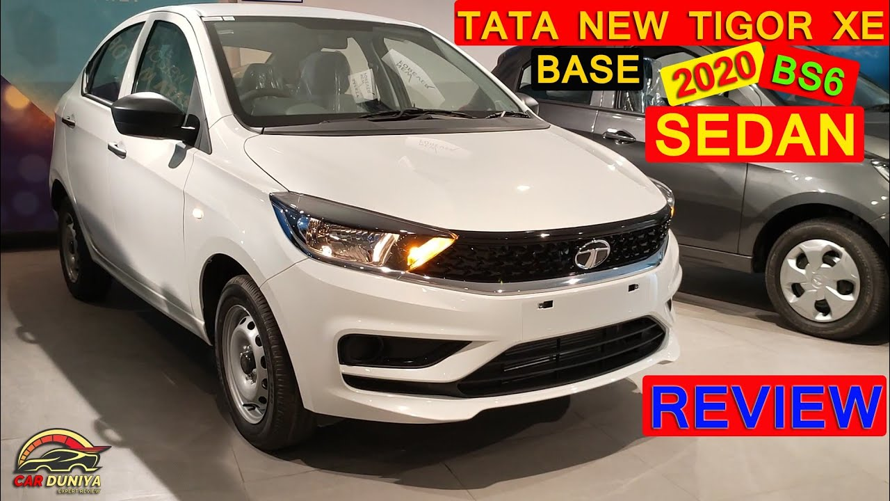 TATA NEW TIGOR XE BASE VARIANT DETAILED REVIEW ! WALKAROUND with PRICE ! FEATURES ! COLOURS