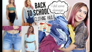 Back To School: CLOTHING TRY-ON HAUL 2018!