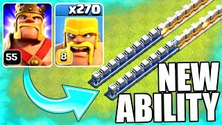 BARBARIAN TRAIN INBOUND! - NEW LEVEL ABILITY UNLOCKED! - Clash Of Clans