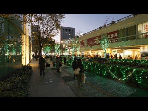 【4K】Checking Christmas Illumination around Tokyo station and Ginza