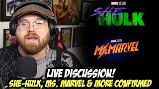 She-Hulk, Ms. Marvel, Moon Knight Shows Confirmed! - Live Discussion!!!