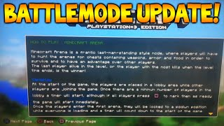 Minecraft Xbox 360/PS3 - NEW Battlemode Arena Gamemode Loading Screen Menu Screenshot