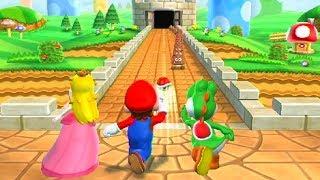 Mario Party 9 Minigames - Mario vs Luigi vs Peach vs Yoshi
