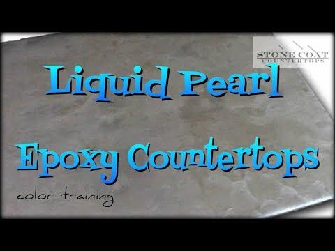 Liquid Pearl Epoxy Countertops