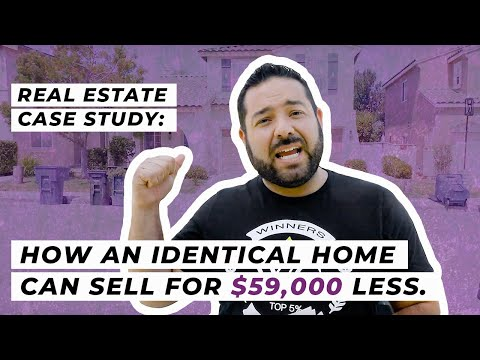 Real Estate Case Study: How an identical home can sell for $59,000 less.