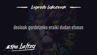 ESNE BELTZA - BEGIRADA BAKOITZEAN (Lyric video)