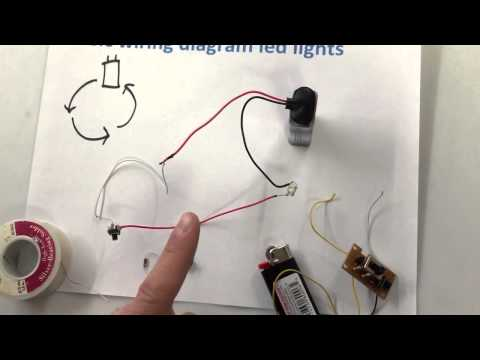 How To Wire Up Led Lights With A Battery Basic Wiring Guide