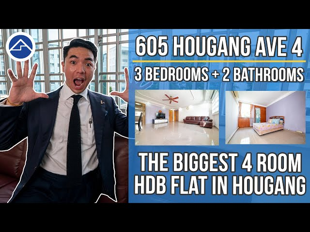 [SOLD!!!]The Biggest 4 Room HDB Flat in Hougang! [5 Room Flat Size]