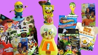 Blind Bags By Power Rangers, Despicable Me 2, Angry Birds Gumball Dispenser & Fifa Brazil Cards