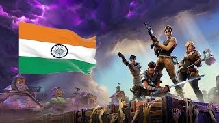 FORTNITE LIVE INDIA | JUST DOWNLOADED | THANKS FOR 100 SUBS GYZ ❤