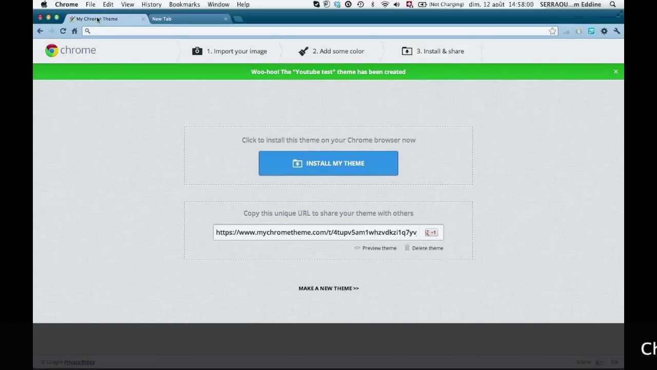 Google themes mac - How To Make A Custom Theme In Google Chrome Easiest Way Mac Windows Linux