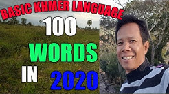 Basic Khmer 100 words with example sentences Asean Languages Part 05