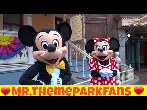 Disney characters Mickey & Minnie and Goofy Magic Hours - Disneyland Parc March 2015