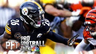 Hilarious Madden glitch leads to ridiculous Le'Veon Bell TD I Pro Football Talk I NBC Sports
