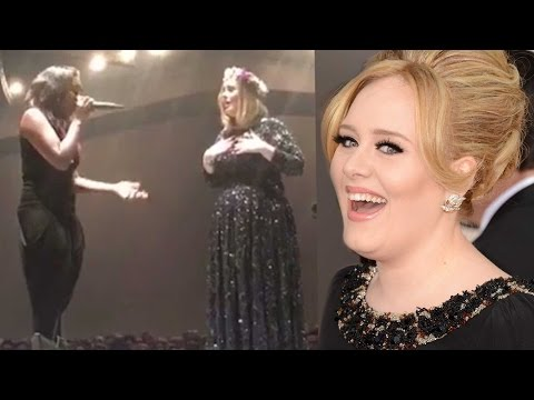 Adele Shocked By Fan's Incredible Voice at LA Show -- See the Clip!