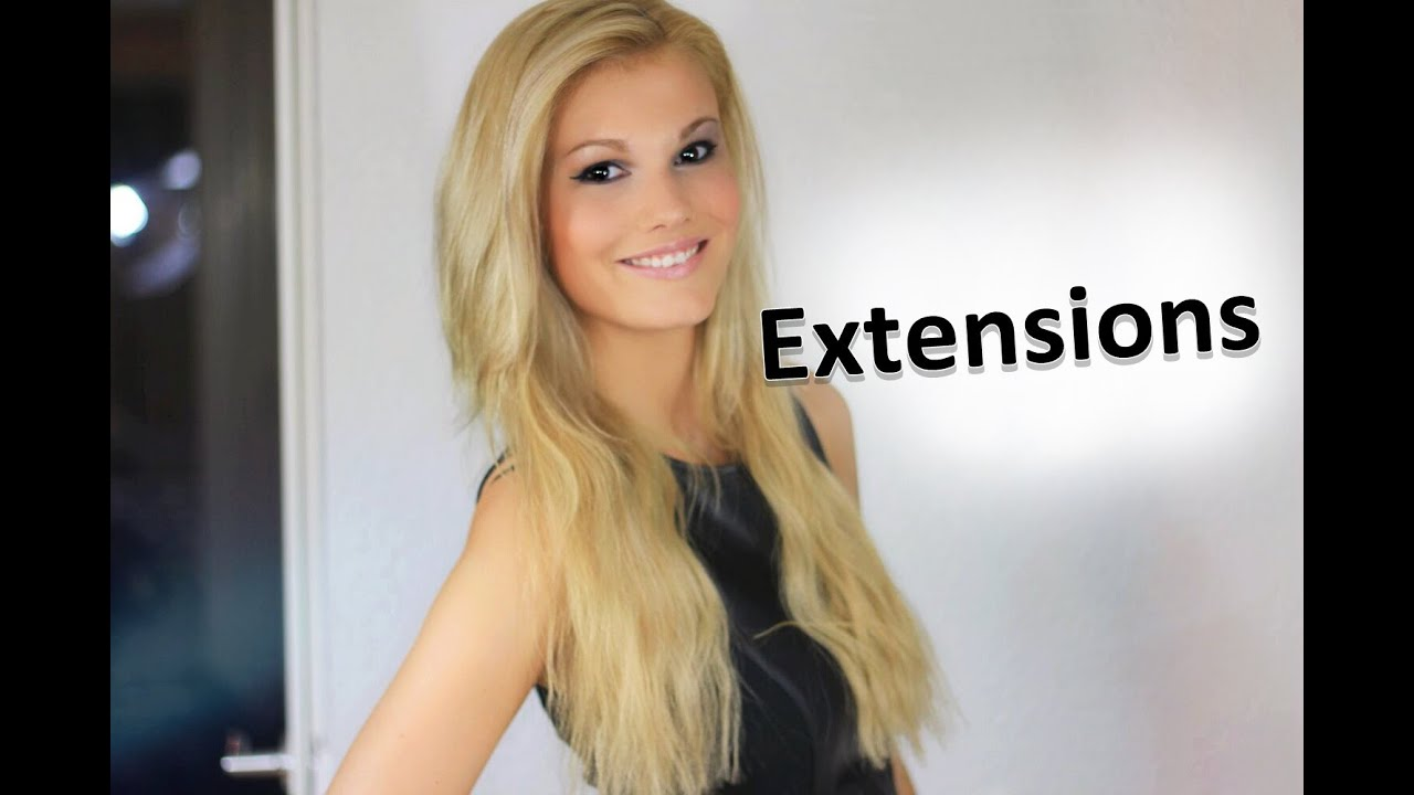 Meine Haarverlangerung Mit Bondings All About Extensions Youtube