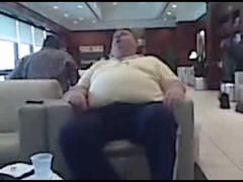 Fat Guy Falling Asleep At ATL Airport  YouTube