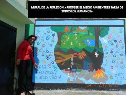 Mural sobre el medio ambiente i e pnp alcides vigo for El mural pelicula online