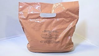 Testing Military British Single Meal Ration Pack MRE (Meal Ready to Eat)