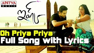Oh Priya Priya Song With Lyrics - Ishq Movie Songs - Nitin, Nithya Menon