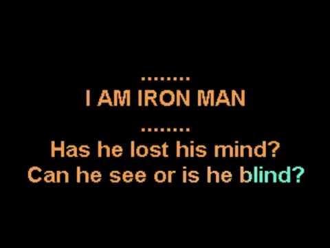 Iron Man Black Sabbath Ozzy Osbourne Karaoke CustomKaraoke RARE custom