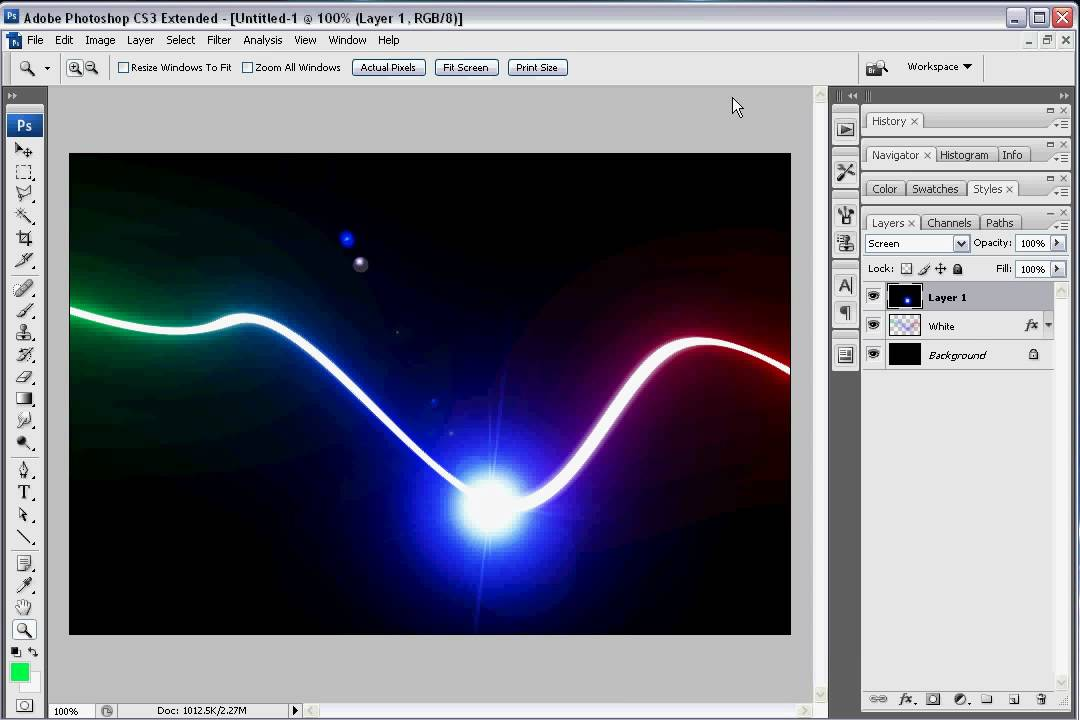 Drawing Lines In Photo Cs : How to make light streaks in photoshop youtube