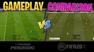 [TTB] PES 2020 vs FIFA 20 GAMEPLAY COMPARISON! - TOTALLY DIFFERENT STYLES!