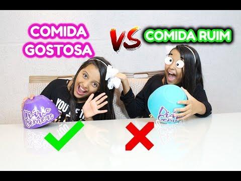 COMIDA RUIM VS COMIDA GOSTOSA - DIÁRIO DAS GÊMEAS