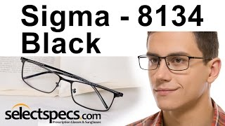 Rectangular Glasses for Men - Sigma 8134 Black