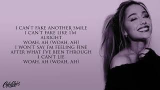 Ariana Grande - fake smile | l y r i c s |