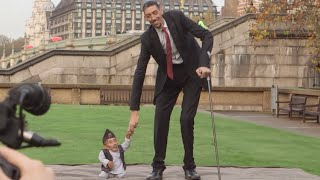 2.51m vs 54.6cm: Shortest & tallest men meet in UK
