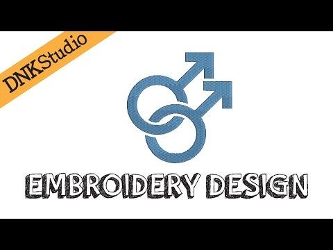 Gay Homosexual Symbol Embroidery Design