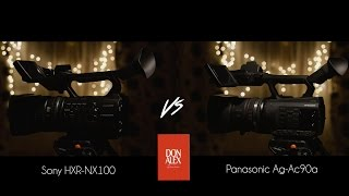 panasonic ag ac90a vs sony hxr nx100